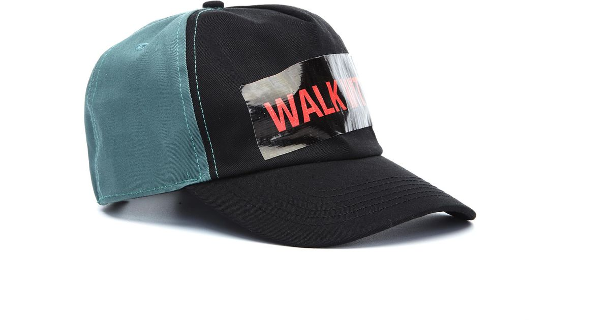 d812b17184c Lyst - Raf Simons Cap With Tape in Green for Men