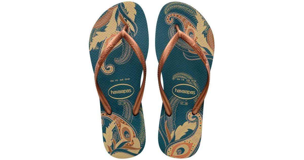 d242c2bd4 Lyst - Havaianas Slim Organic Sandal in Blue