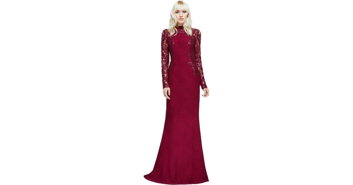 a1efcae817 Lyst - Tadashi Shoji Felicity Gown in Red
