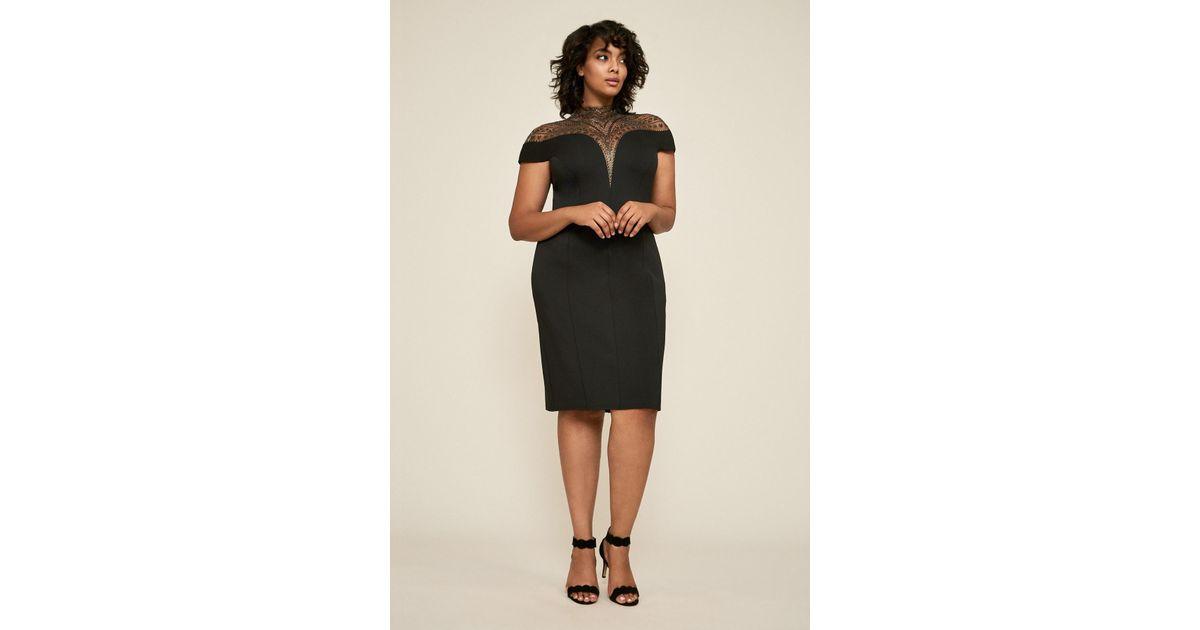 7f711f868b5 Tadashi Shoji Asher Neoprene Dress - Plus Size in Black - Lyst