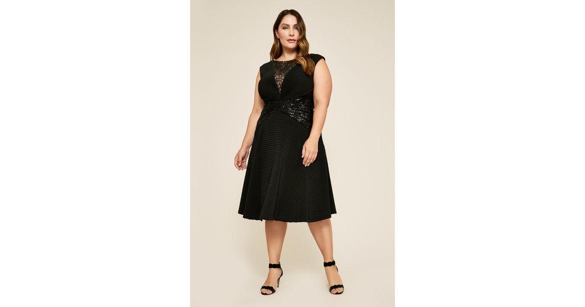759d6af4c9ae Tadashi Shoji Celsi Sleeveless Pintuck Sequin Dress - Plus Size in Black -  Lyst