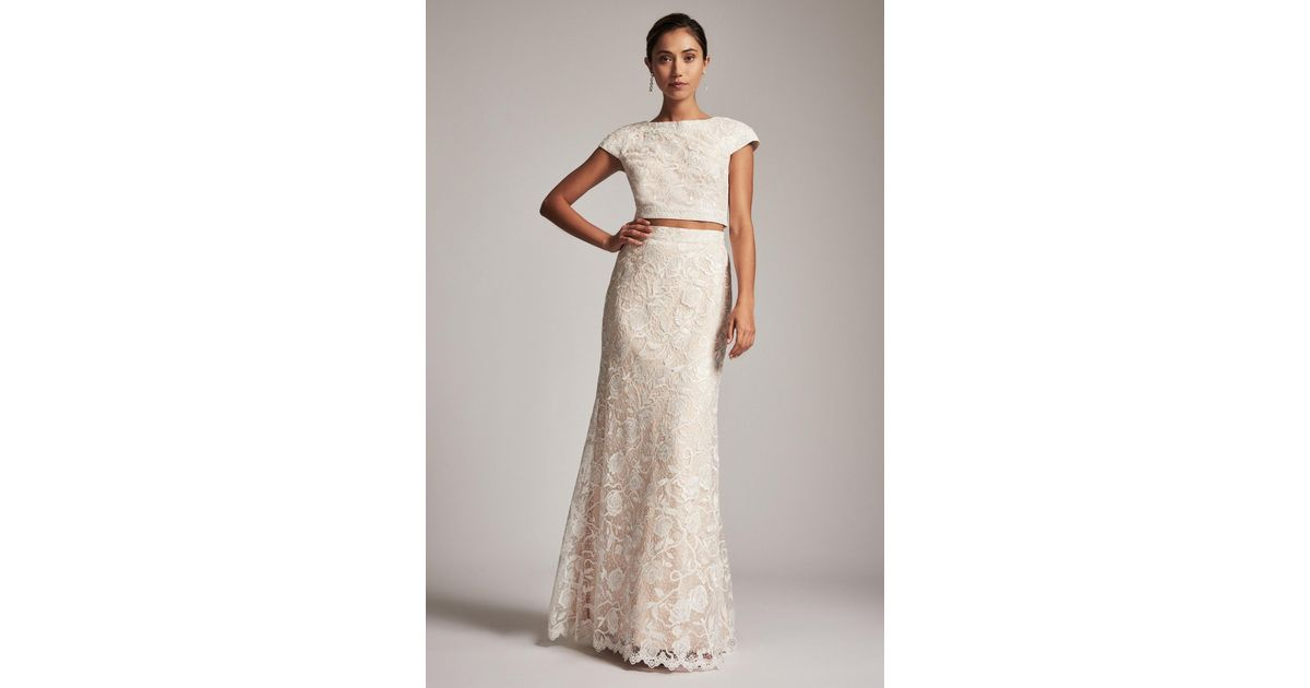 Lyst - Tadashi Shoji Maya Two-piece Gown in White