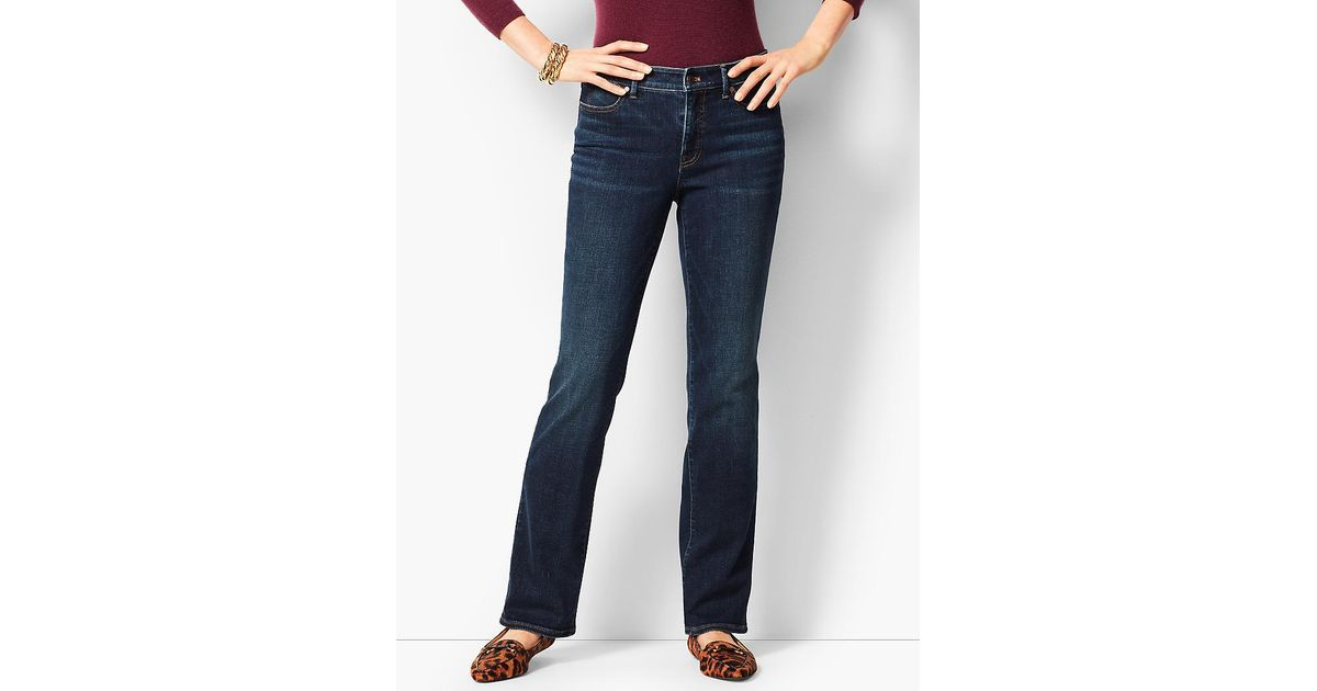 519e8aa3455 Lyst - Talbots High-waist Denim Barely Boot Jeans - Pioneer Wash in Blue