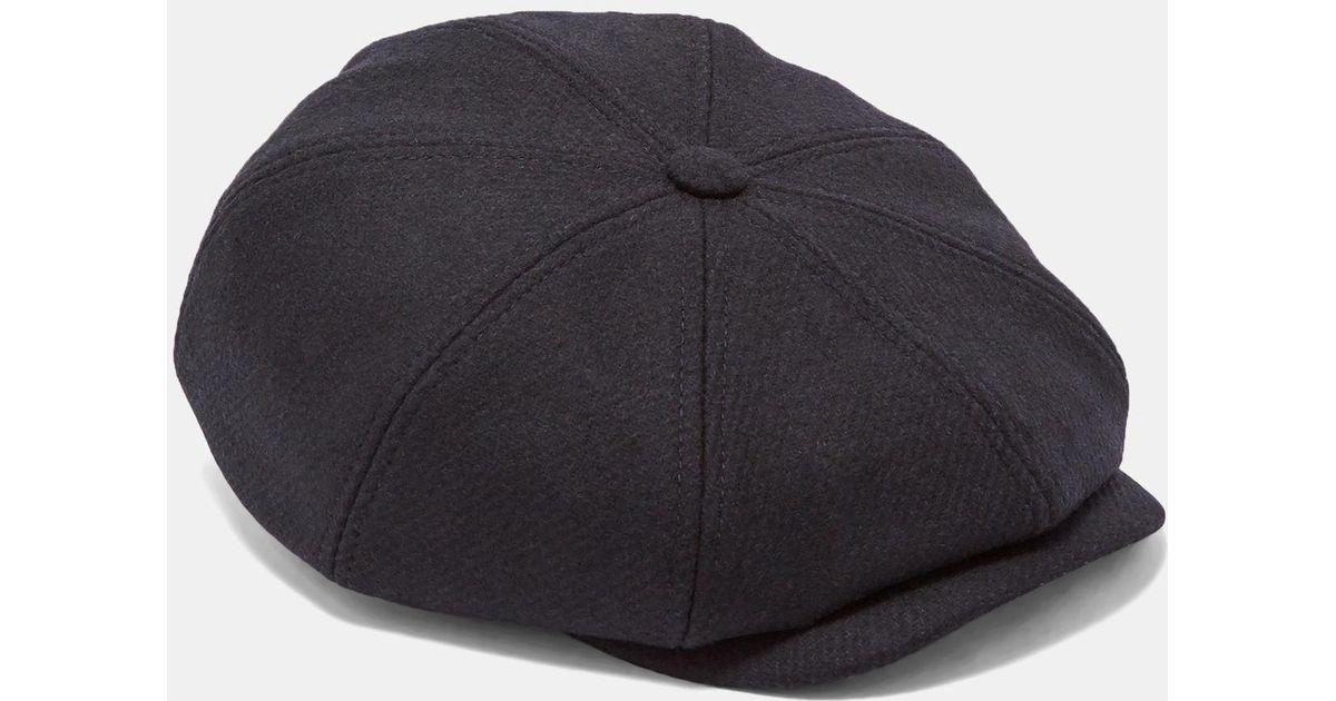 d9fb3e94b38f66 Ted Baker Structured Baker Boy Hat in Blue for Men - Lyst