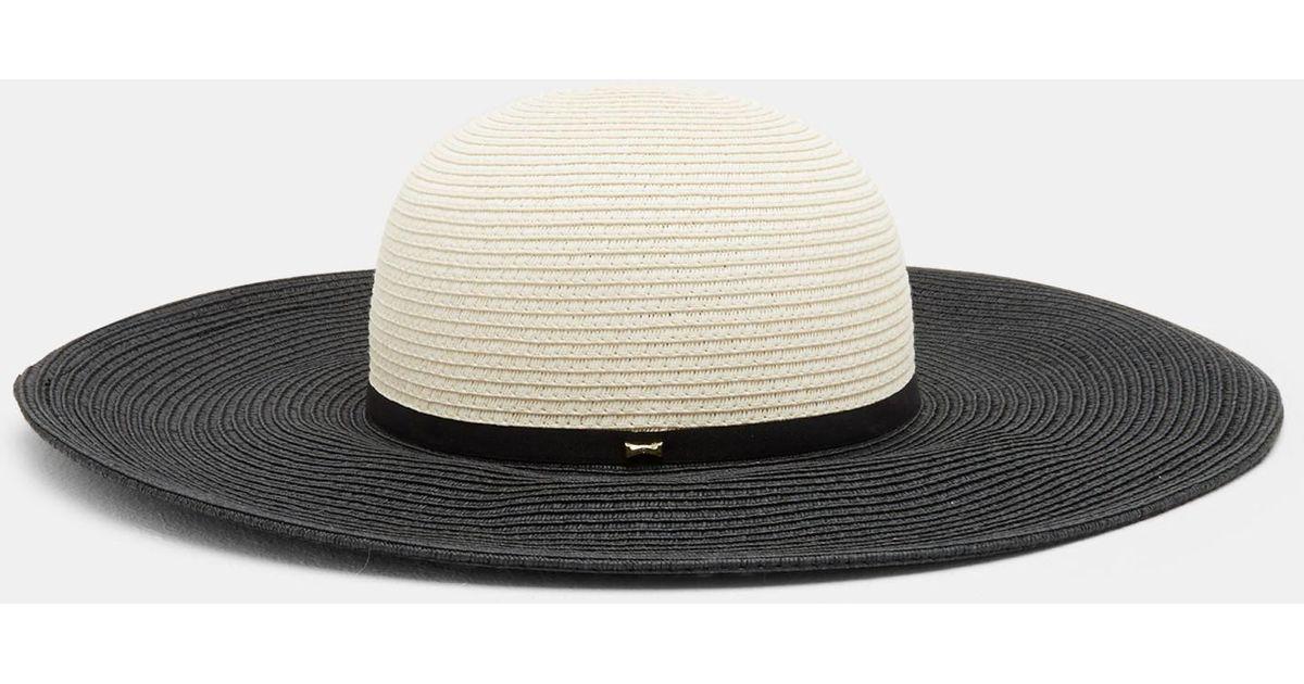e755de2203eab Lyst - Ted Baker Two-tone Straw Hat in Black