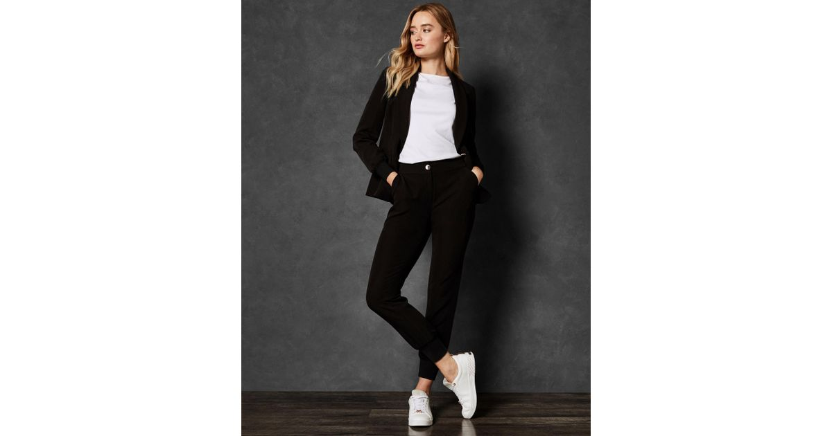 9621f7b29 Lyst - Ted Baker Mmargot Ribbed Cuff Relaxed Trousers in Black