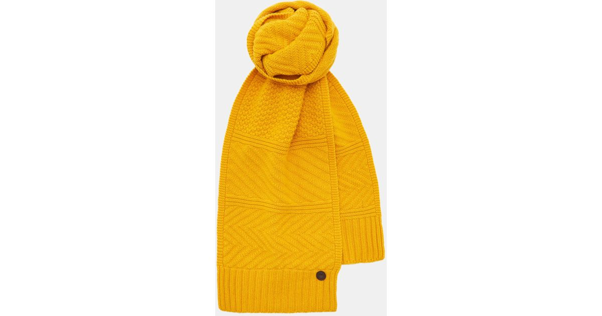 ca7f8cd5f012 Lyst - Ted Baker Multi Stitch Scarf in Yellow for Men