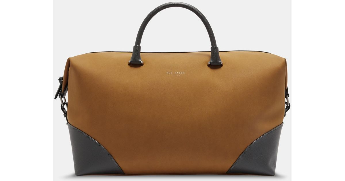 d28366eb7afd Lyst - Ted Baker Faux Nubuck Holdall in Natural for Men