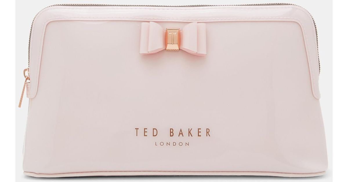 dfd2282e456c Lyst - Ted Baker Large Bow Wash Bag in Pink