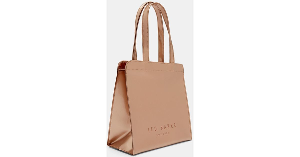 2f1cfbcc453fc Lyst - Ted Baker Cleocon Bow Small Icon Shopper Bag