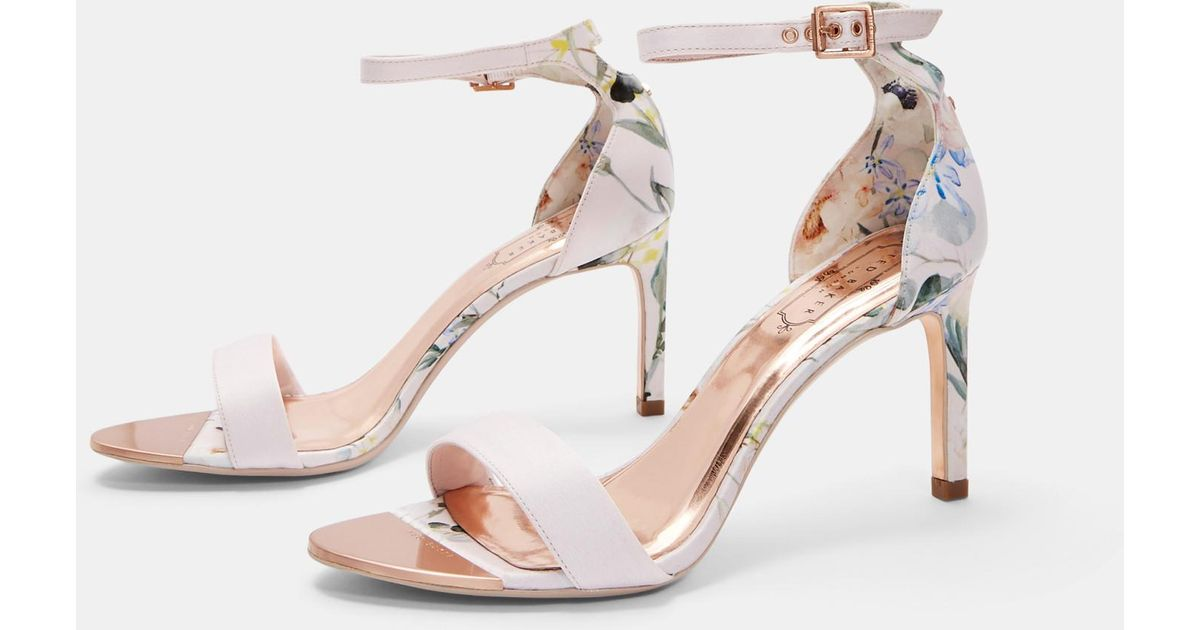 ef37cc659 Ted Baker Printed Straight Heel Sandals in Pink - Lyst