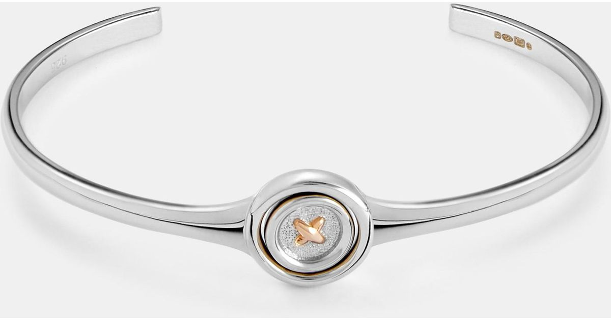 Spinning Button Sterling Silver Bangle Ted Baker 7SRnwDIe