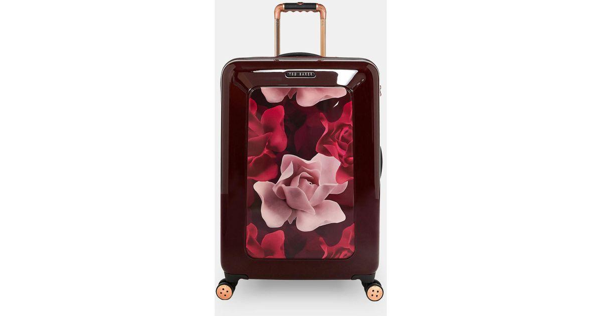 6298ed9144a2 Ted Baker Porcelain Rose Medium Suitcase - Lyst