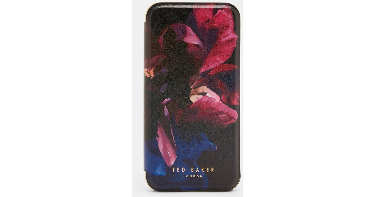 7c32be491f787b Ted Baker Impressionist Bloom Iphone 6 6s 7 Book Case in Black - Lyst