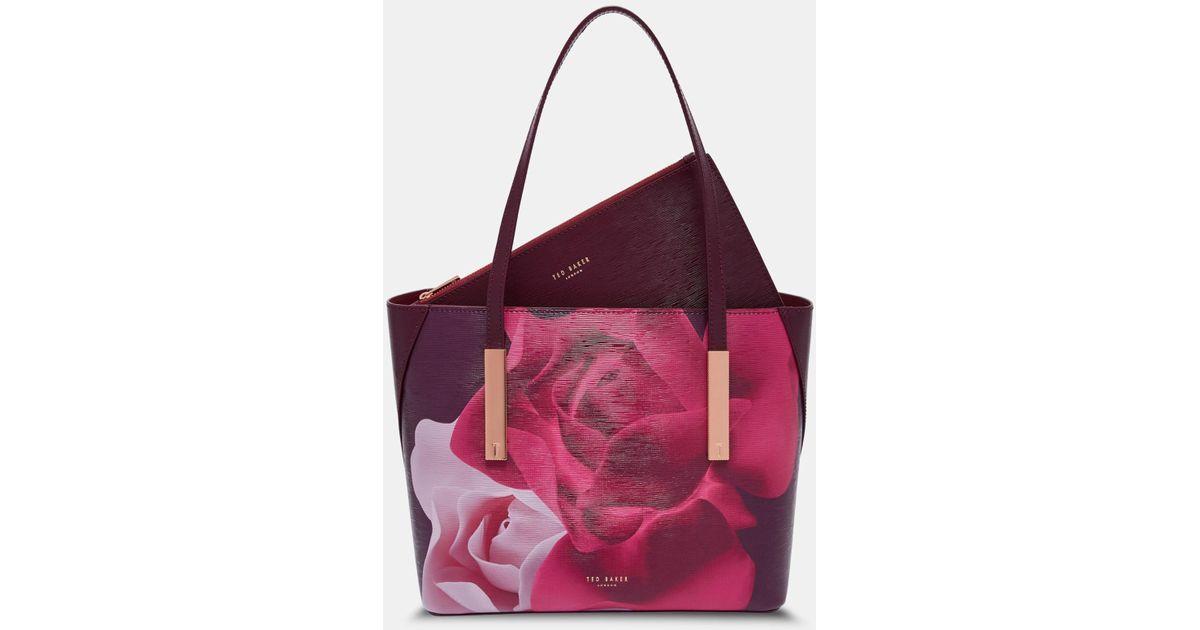 a997018a58cd4 Ted Baker Porcelain Rose Leather Shopper Bag - Lyst
