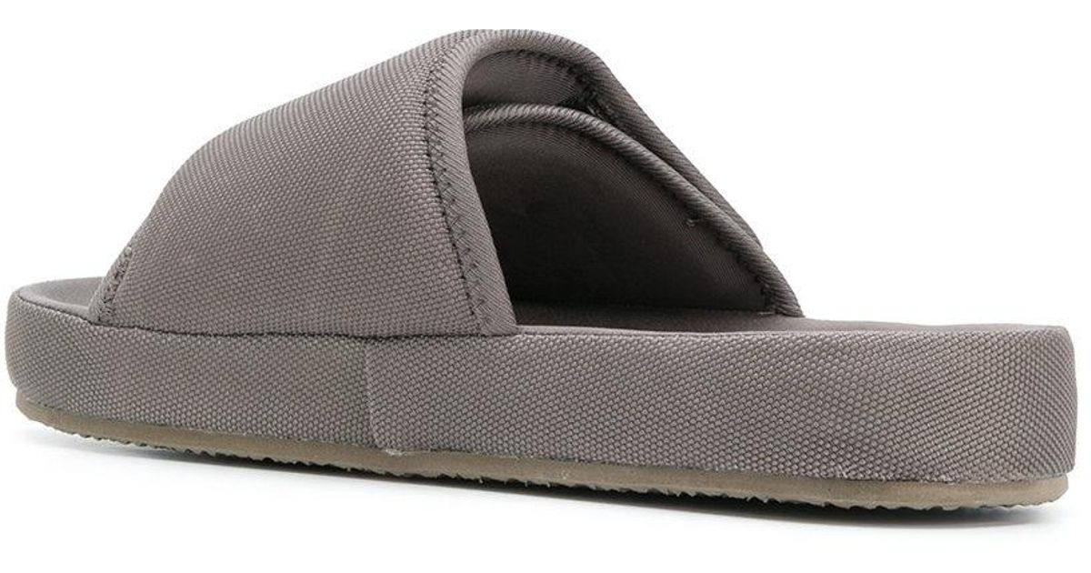 2c5f10a9a4c Yeezy - Gray Nylon Slippers - Lyst