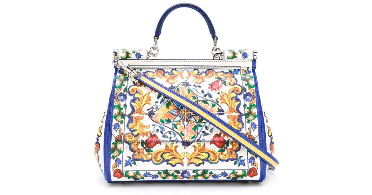 Dolce Amp Gabbana Miss Sicily Medium Leather St Maioliche