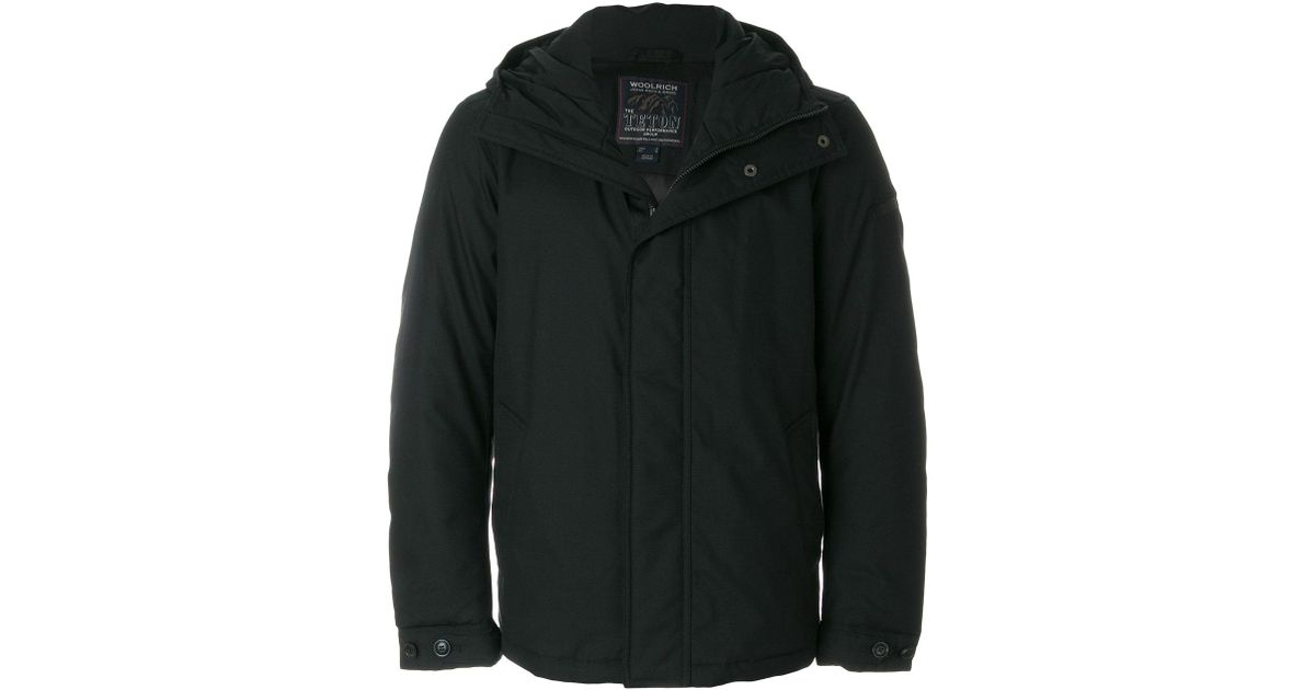 teton rudder jacket  Lyst - Woolrich Teton Rudder Jacket in Black for Men