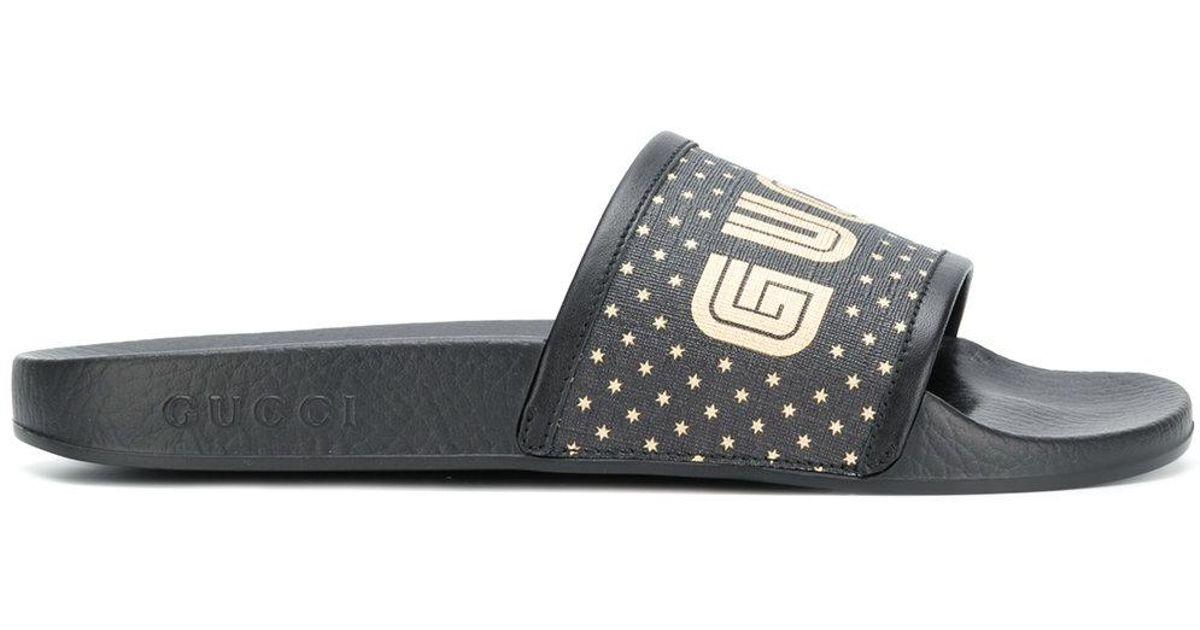 929b0f812b7920 Gucci Rubber Sandals in Black for Men - Lyst