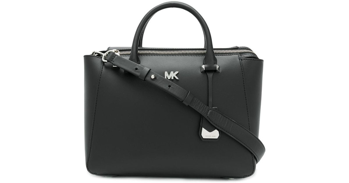 Mott Medium East-West Top Zip Tote Bag Black Crossgrain Leather Michael Michael Kors 6MMXwo6uHZ