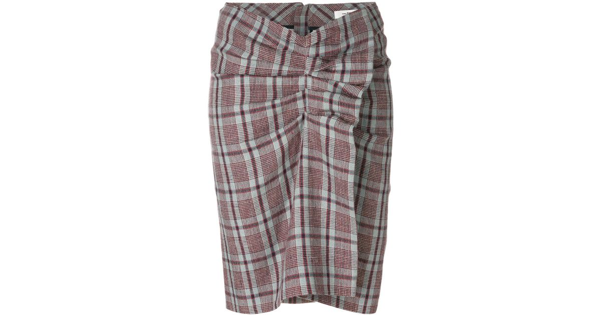 Ines plaid skirt Isabel Marant Clearance Shop Outlet Visit New Buy Cheap Fashionable Buy Cheap 2018 Newest Footlocker Pictures Sale Online GBRu0