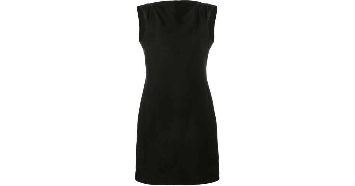 9501e081a55 Lyst - CALVIN KLEIN 205W39NYC Cady Short Dress in Black