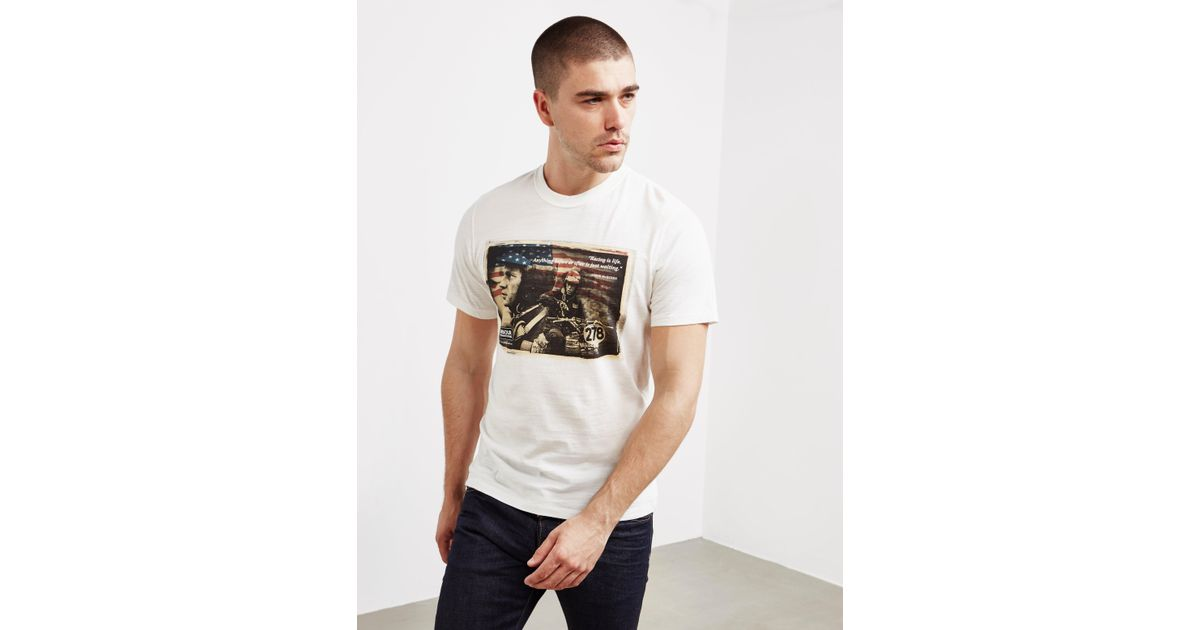 e4fa3881187 Lyst - Barbour International X Steve Mcqueen Short Sleeve T-shirt White in  White for Men - Save 52%