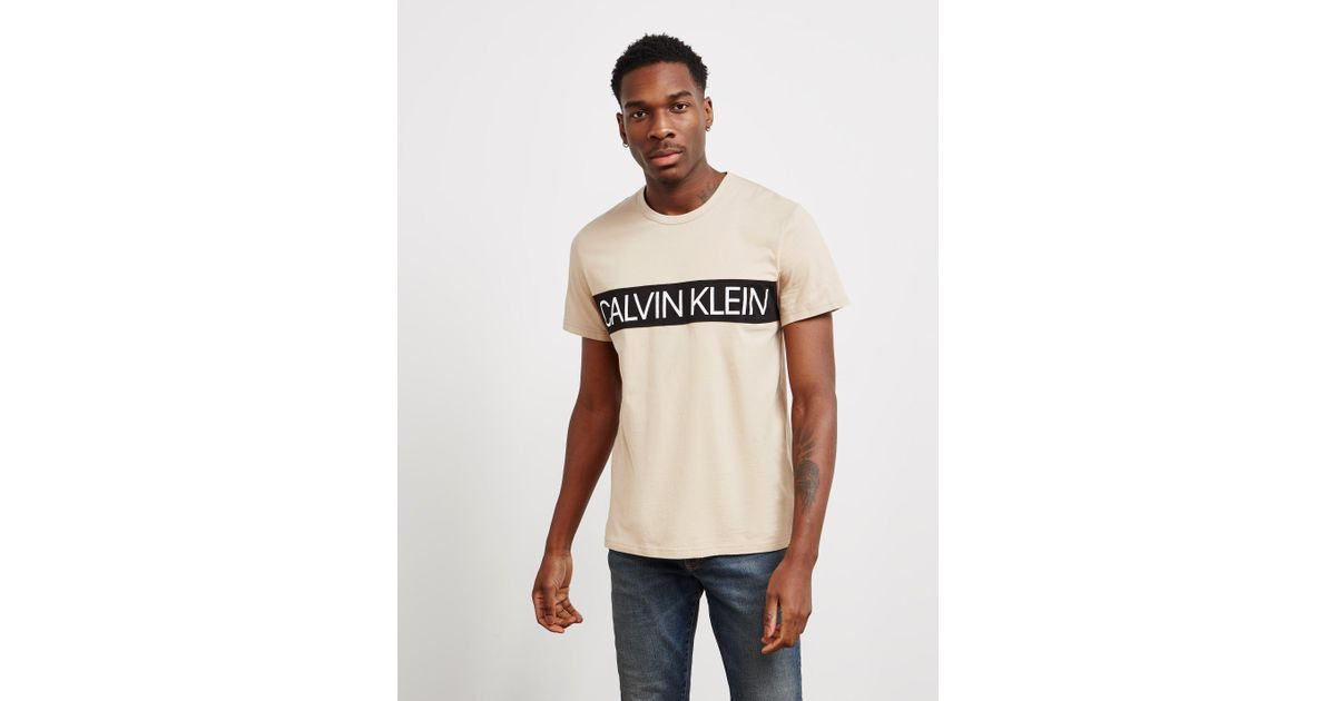 c7e3fc11 Calvin Klein Panel Logo Short Sleeve T-shirt Brown in Brown for Men - Lyst