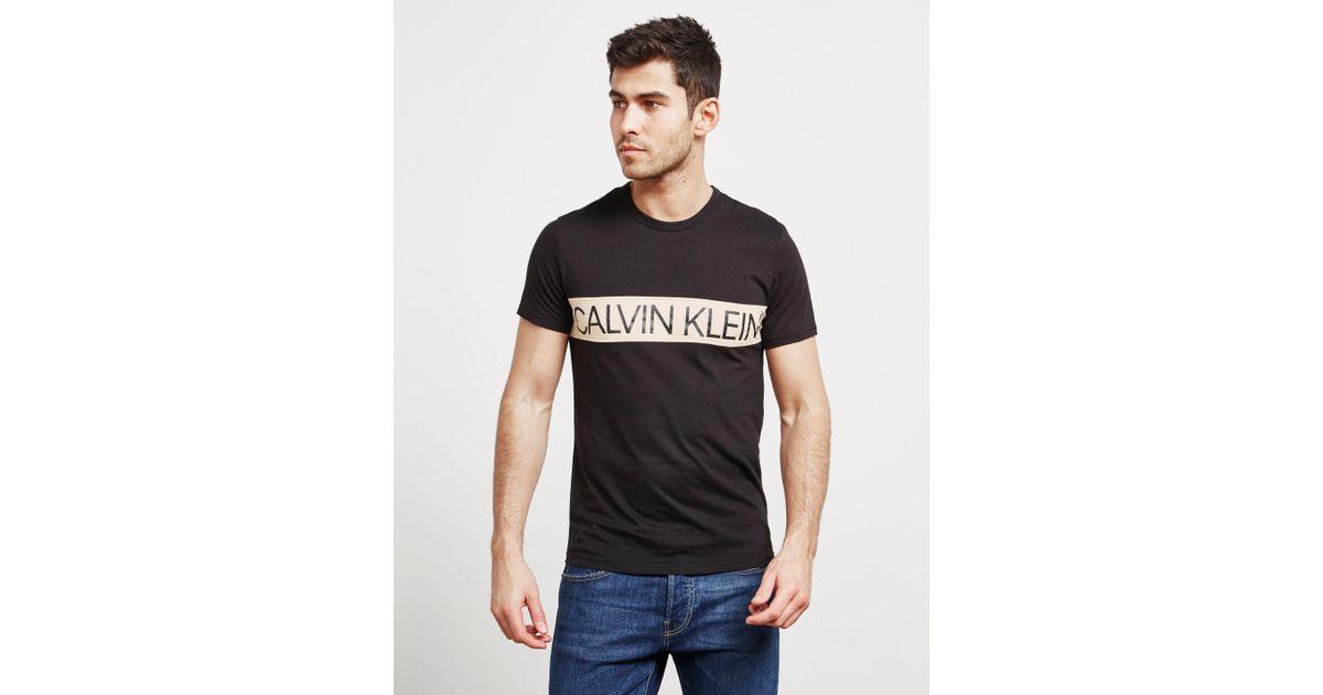 643c0fc2 Lyst - Calvin Klein Panel Logo Short Sleeve T-shirt Black in Black for Men