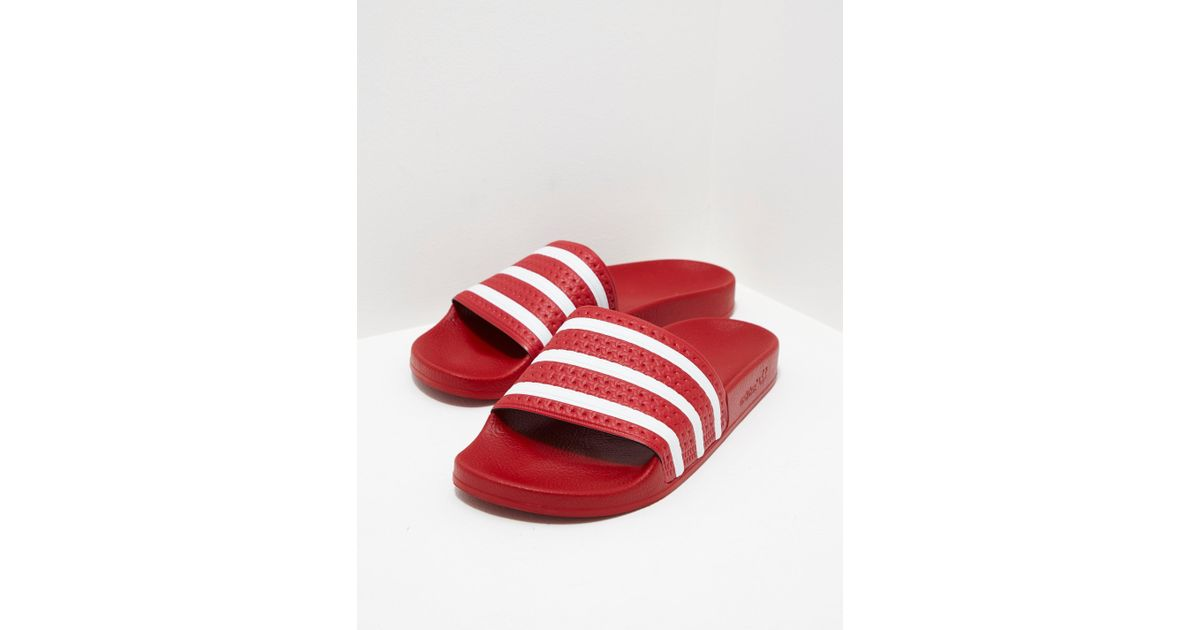999595ccc Lyst - adidas Originals Mens Adilette Slides Red in Red for Men