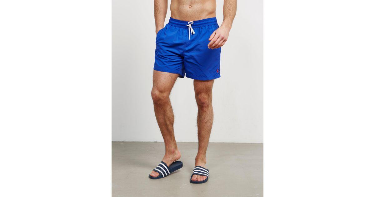 f4b07febc8 Polo Ralph Lauren Classic Swim Shorts Royal Blue in Blue for Men - Lyst