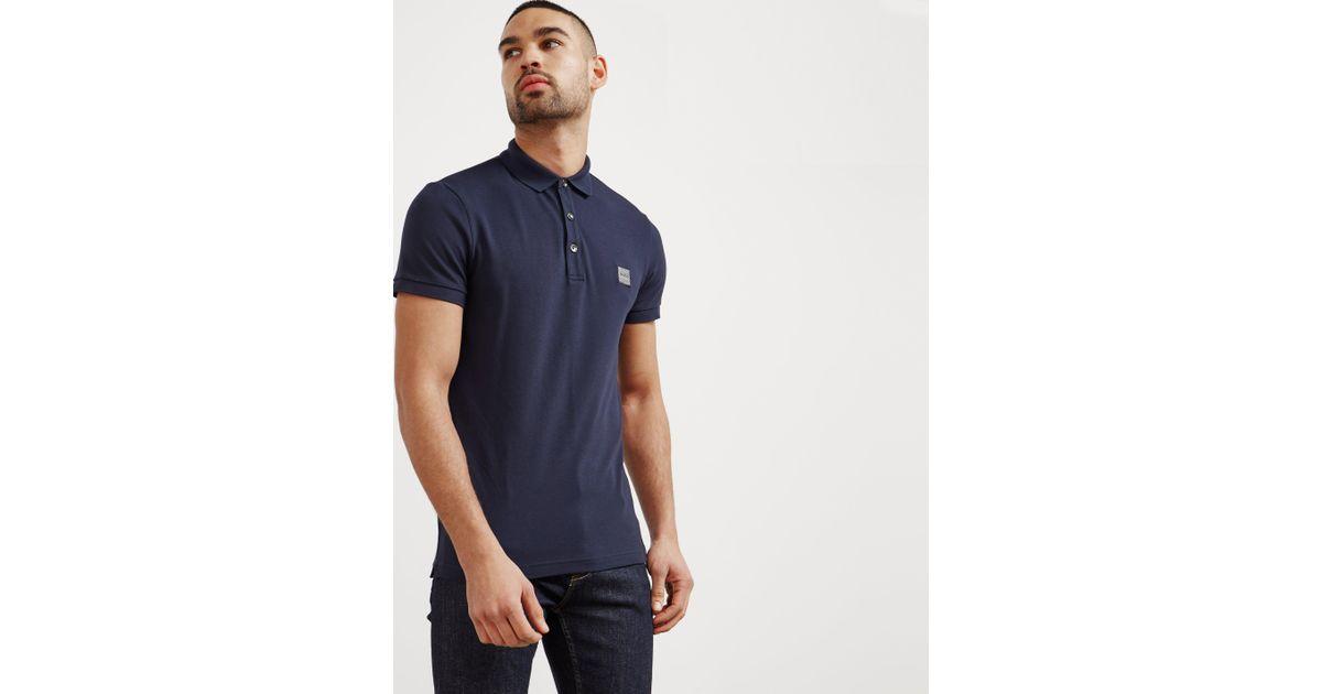 56a59866 BOSS Passenger Short Sleeve Polo Shirt Navy Blue in Blue for Men - Lyst