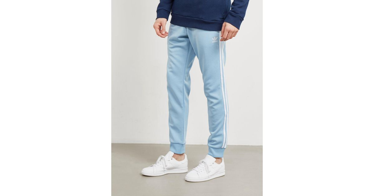 cc771bd07d60 adidas Originals Mens Superstar Track Pants Ash Blue in Blue for Men - Lyst
