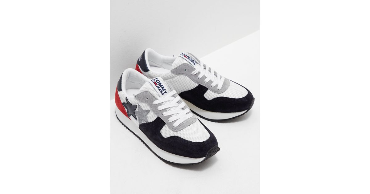 081929bf6d2a8 Lyst - Tommy Hilfiger Womens Star Sneakers White in White