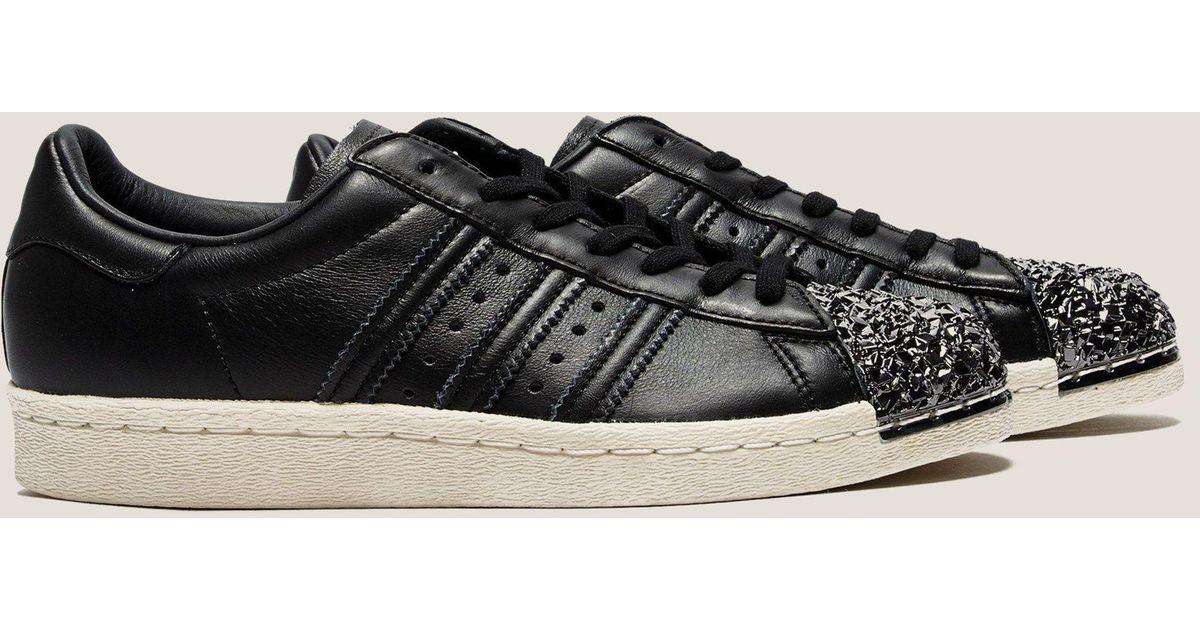 pretty nice 5920b 87793 Lyst - adidas Originals Womens Superstar 80s Metal Toe Black in Black