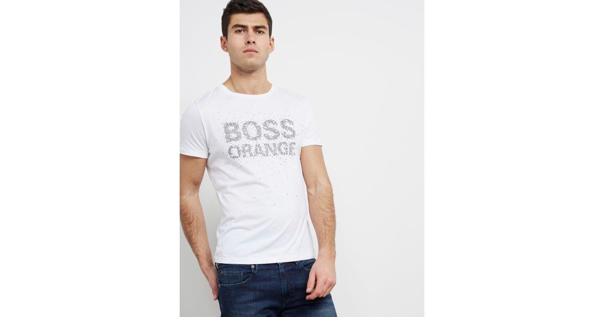 e4c8991646ab Lyst - Boss Mens Turbulence Short Sleeve T-shirt White in White for Men