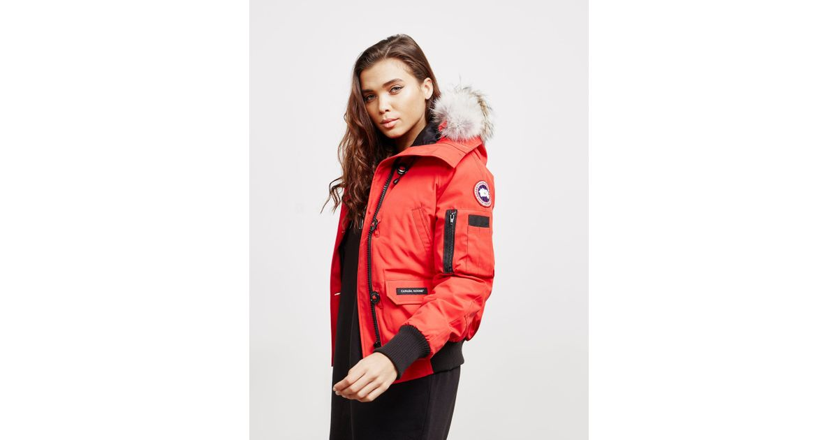 582055a1038f Lyst - Canada Goose Womens Chilliwack Padded Bomber Jacket Red in Red