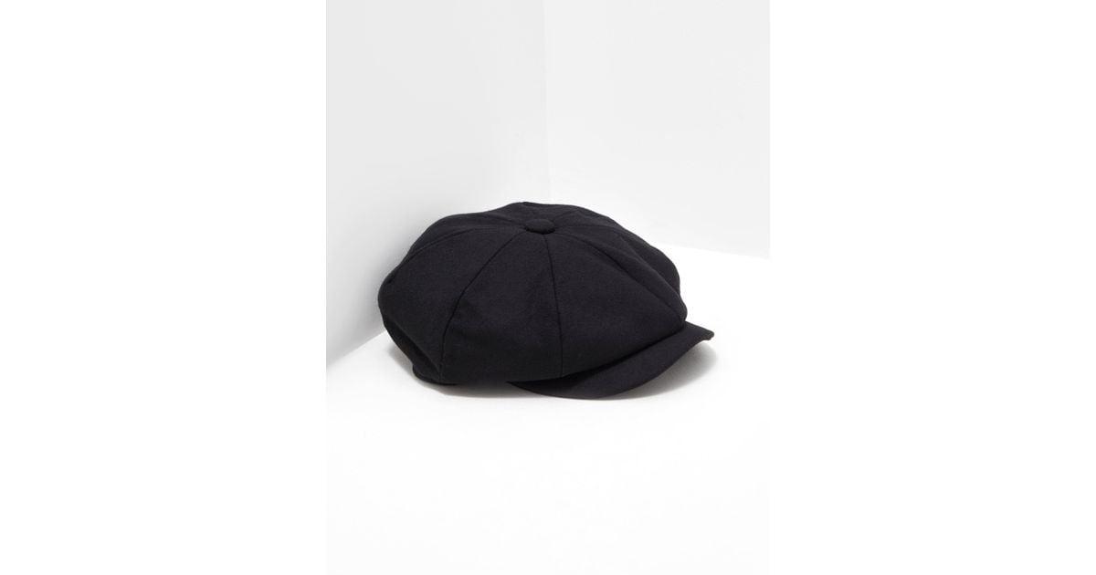 Barbour Mens Melton Baker Boy Hat Black in Black for Men - Lyst 48be11d581c