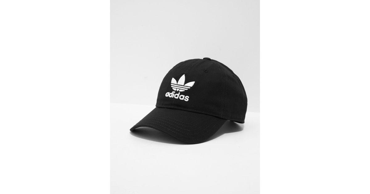 f1b1d90c51f4d ... free shipping lyst adidas originals mens trefoil classic cap black in  black for men 1b687 b66af