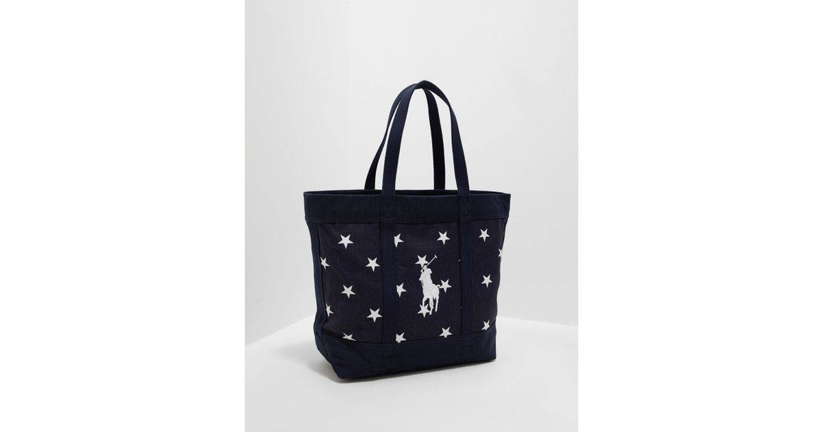 92b8fd345c70 Polo Ralph Lauren Mens Stars Tote Bag - Online Exclusive Navy Blue in Blue  for Men - Lyst