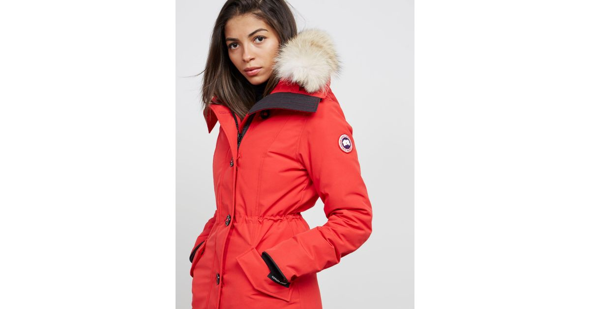 b87b7d7fe010 Canada Goose Rossclair Padded Parka Jacket Red in Red - Save 5% - Lyst