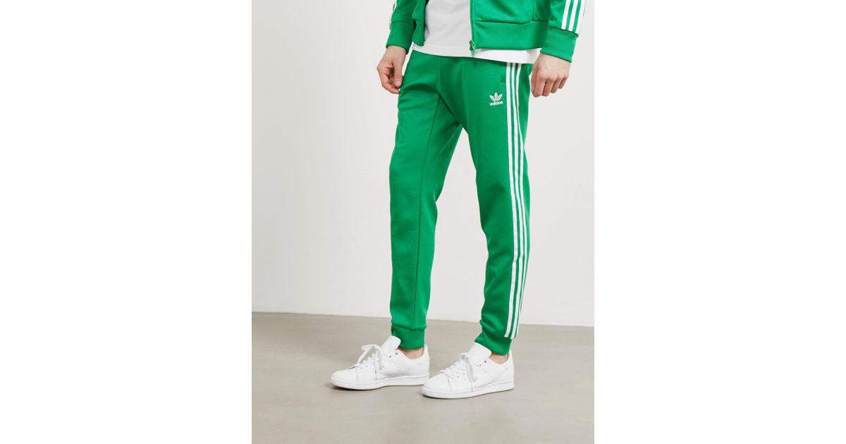 online retailer 888ab a3941 adidas Originals Mens Superstar Track Pants Green in Green for Men - Lyst