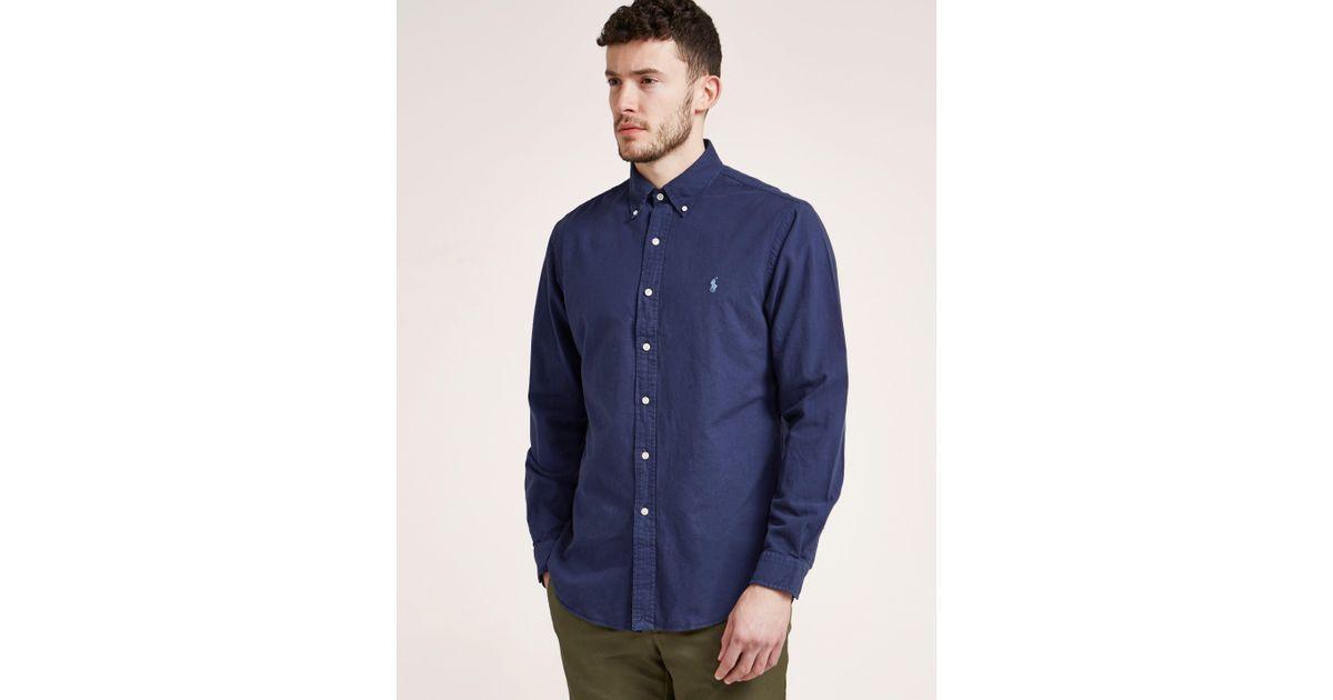 Polo Ralph Lauren Mens Long Sleeve Oxford Shirt Navy in Blue for Men - Lyst f2ba514883d1