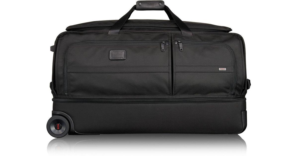 Tumi Alpha 2 Large Wheeled Split Duffle Bag In Black For Men Lyst