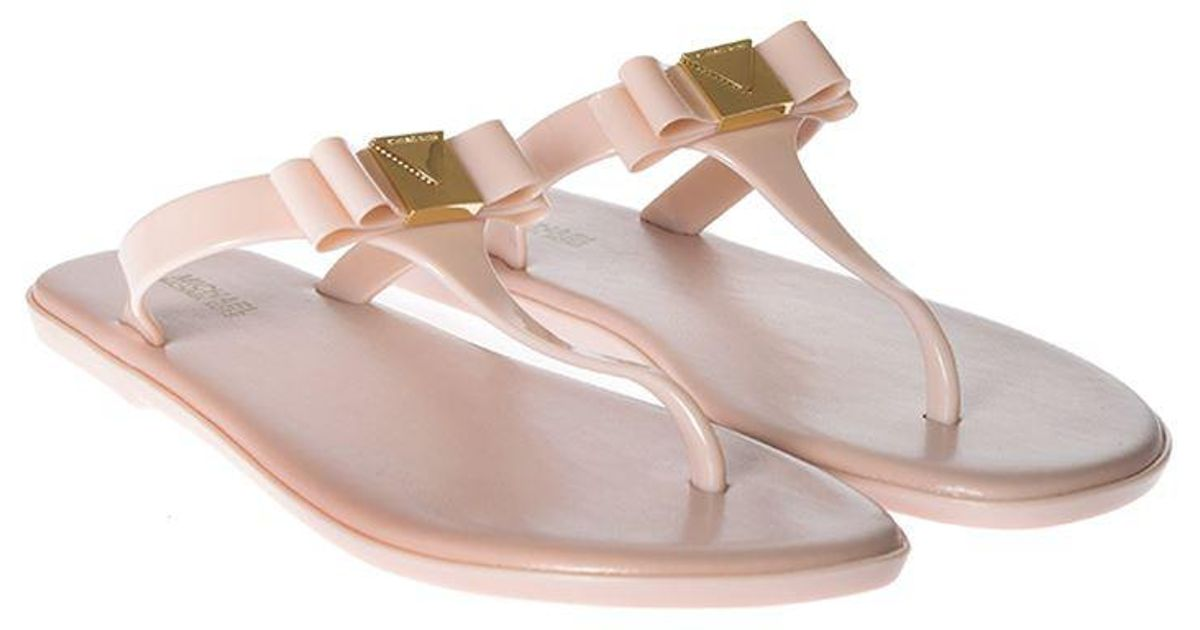 dda72939e004 Michael Kors Pink Caroline Jelly Thong Sandals in Pink - Lyst