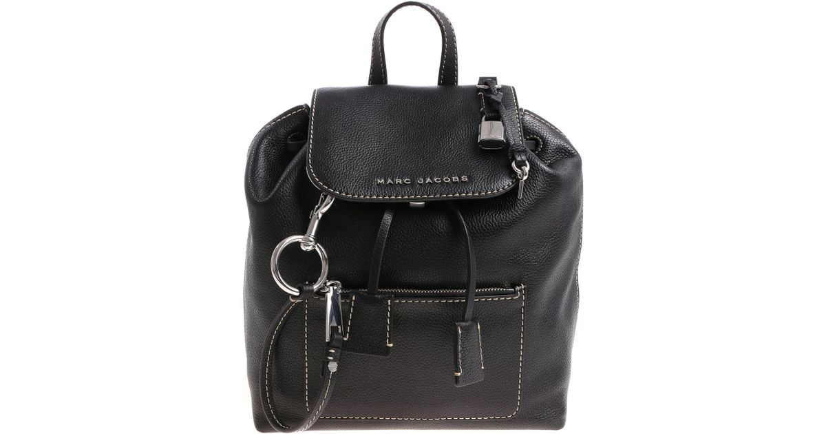 521355ddf76a4a Lyst - Marc Jacobs Black Backpack With White Stitching in Black