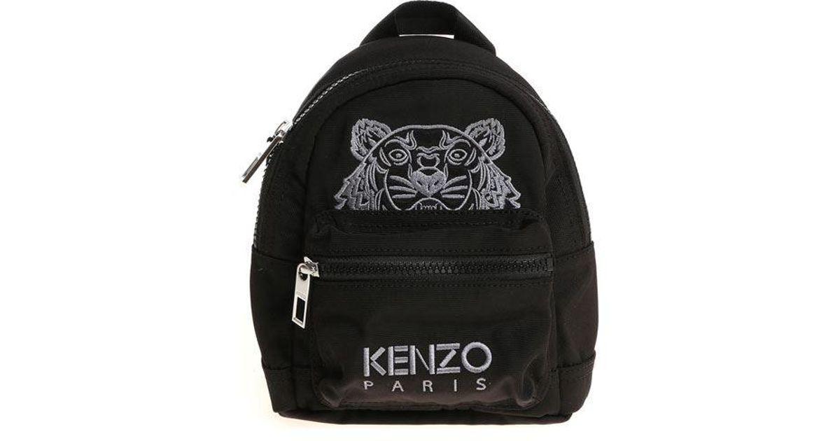 00656b78b828 KENZO Black Fabric Mini Backpack in Black - Lyst