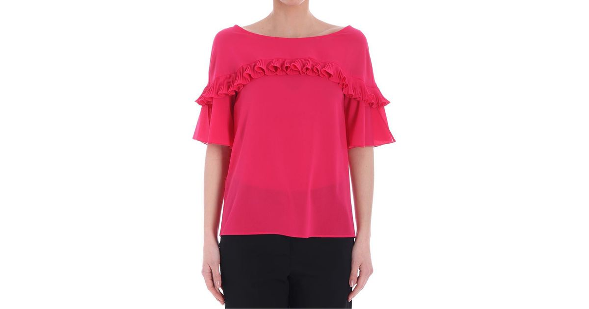 Cheap Real Finishline Explore For Sale Magenta Official Top with pleats Pinko Marketable For Sale kLbbr8n