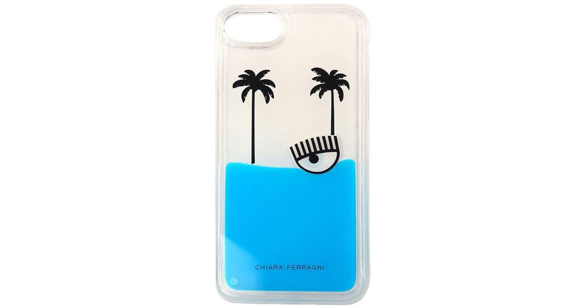 Chiara Ferragni Palms beach I-phone 8 cover Ha1a58Jp