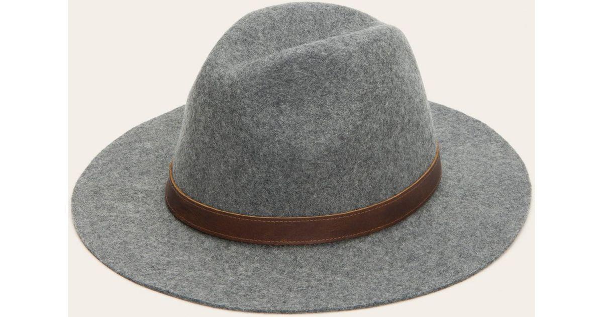 Lyst - Frye Harness Panama Hat in Gray 945479434b08